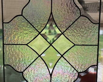 Bevel Diamond Stained Glass Panel