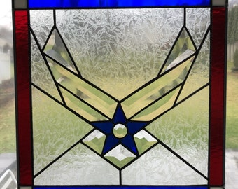 US Air Force Emblem Stained Glass Panel - USAF