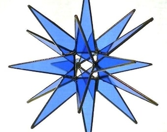 18 Point Hanging Moravian Star - Blue