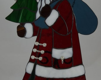 Stained Glass Santa Clause