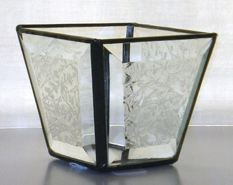 Custom Stained Glass Candle Shelter/Holder