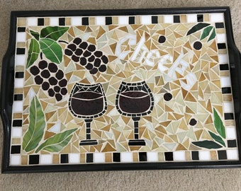 """Mosaic """"Cheers"""" Serving Tray"""