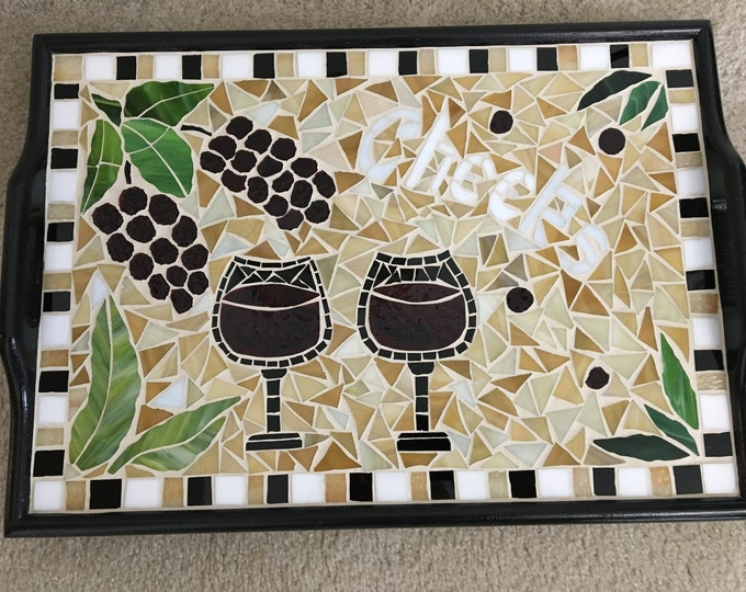 "Mosaic ""Cheers"" Serving Tray"