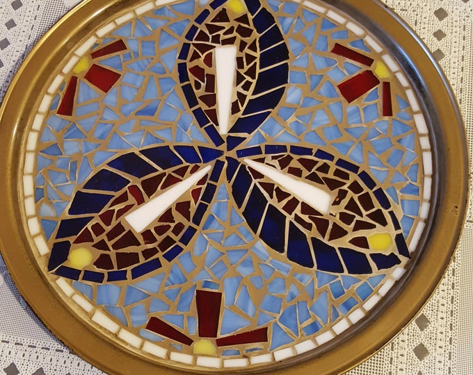 """Small Mosaic Serving Tray -  11"""" in Diameter"""