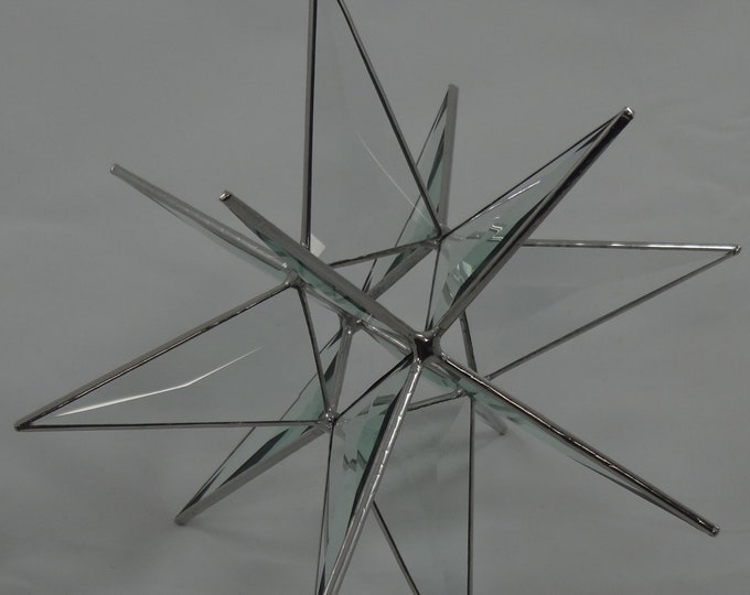 12 Point Bevel Glass Hanging Moravian Star