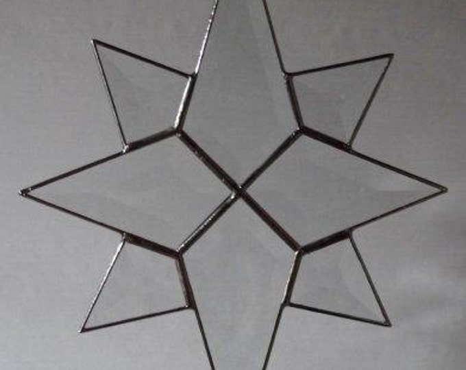 8 Point Flat Bevel Glass Star