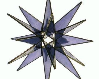 18 Point Hanging Moravian Star - Purple