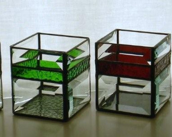 Custom Stained Glass Candle Shelters/Holders