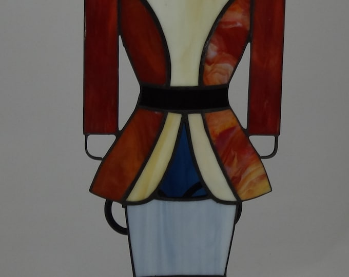 Stained Glass Toy Soldier, Christmas, Holiday, Glass