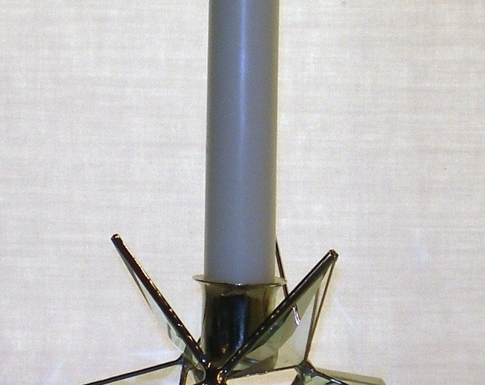 Stained Glass Moravian Star, Candle Holder, Christmas, Star, Ornament, Bevel Glass, Gift, Wedding,