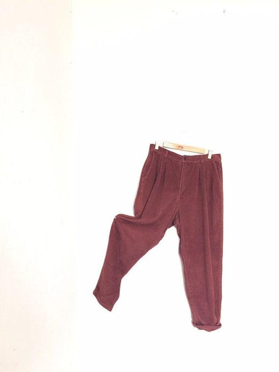 Corduroy Pants Women, waist 32, Maroon velvet pant