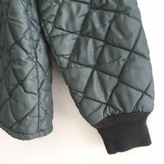 Quilted jacket Green,SZ L, Vtg Military quilted j… - image 5