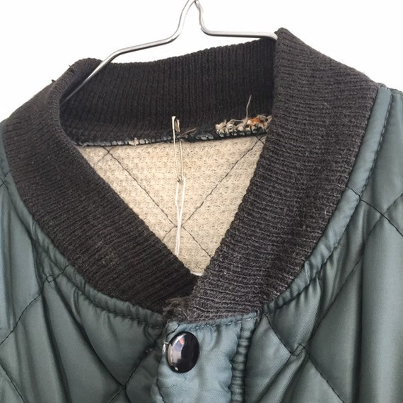 Quilted jacket Green,SZ L, Vtg Military quilted j… - image 4