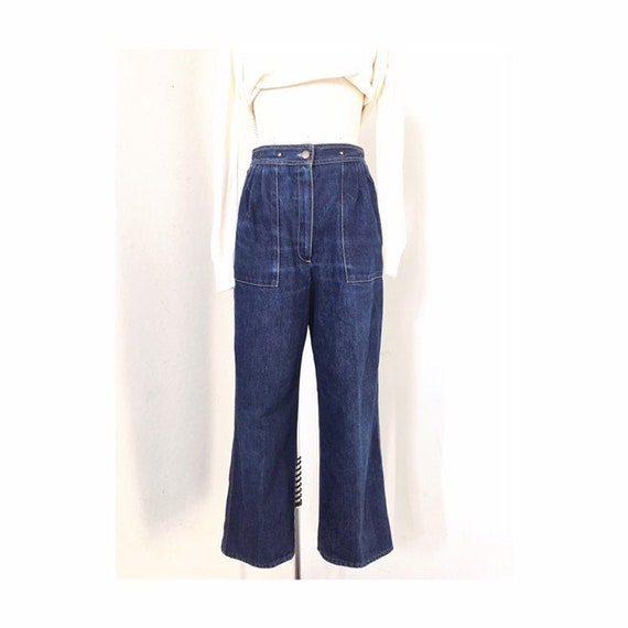 "Pleated Jeans, Waist 28"", Anne Klein Jeans, Front"