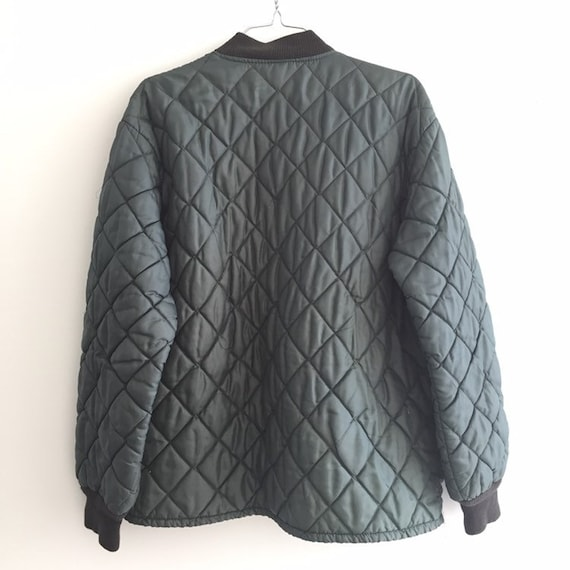 Quilted jacket Green,SZ L, Vtg Military quilted j… - image 6