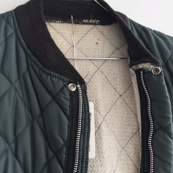 Quilted jacket Green,SZ L, Vtg Military quilted j… - image 2