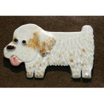 Porcelain Dog Pin Clumber Spaniel Ceramic Tile Brooch Made to Order