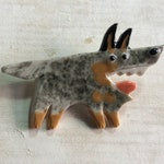 Porcelain Dog Pin Australian Cattle Dog Ceramic Tile Brooch Made to Order Heeler