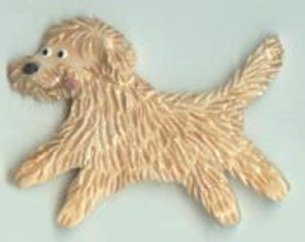 Goldendoodle Labradoodle Bernedoodle Doodle Porcelain Ceramic Tile or Brooch Pin