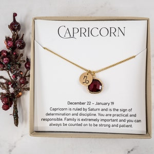 Super Dainty Capricorn Zodiac Necklace \u2022 December to January Birthday Gift \u2022 Handmade Sterling Silver Necklace \u2022 Capricorn are LOYAL ZN010