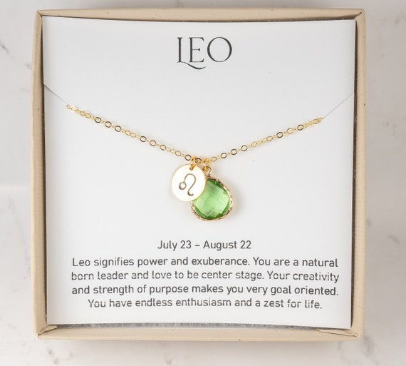 Personalized Birthstone Jewelry August Birthday Gift for Her Real Raw Gemstone Necklace for Leo Zodiac