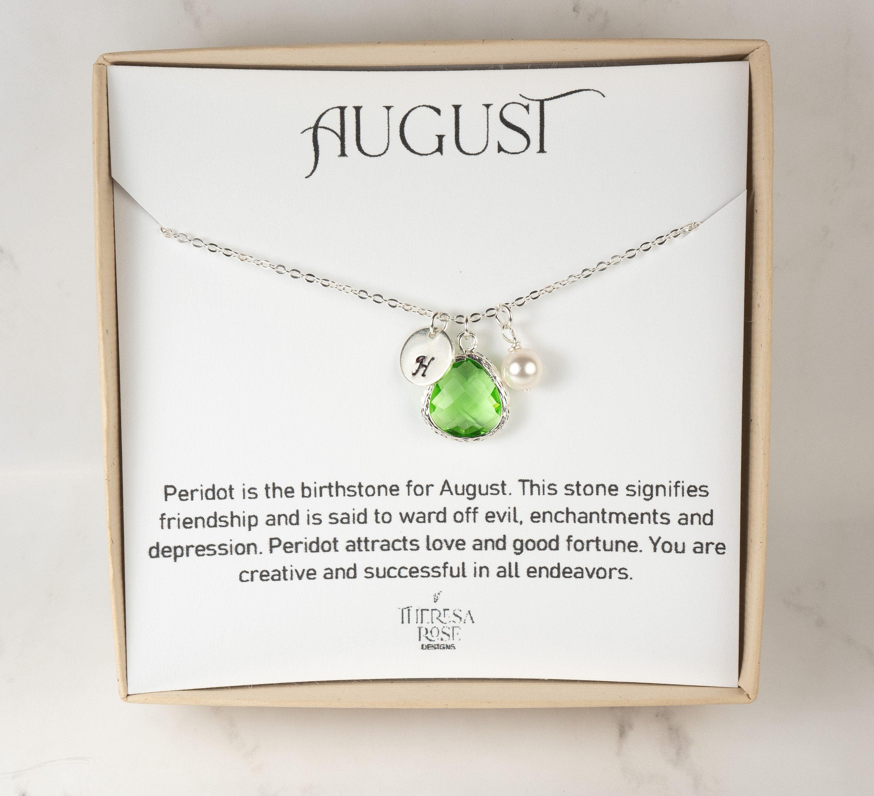 Celtic tree Delicate Peridot necklace Small wire wrapped tree-of-life pendant Tiny crystal jewelry Dainty August birthstone necklace