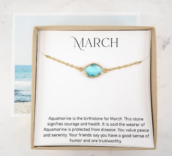 Lab Grown Aquamarine C19-Gold March Birthstone Necklace 9 Carat Yellow Gold Aquamarine Necklace 6 mm Square Aquamarine Pendant Gold