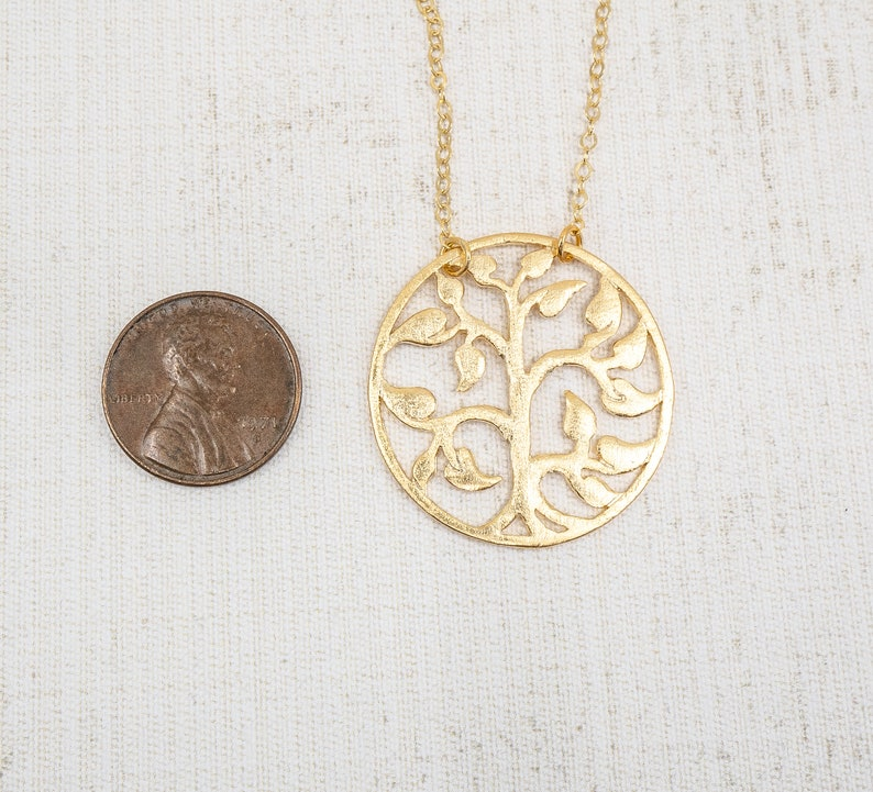 Minimalist Jewelry Summer Jewelry Gold Necklace Family Tree Necklace Boho Jewelry Tree of Life Necklace Layering Necklace