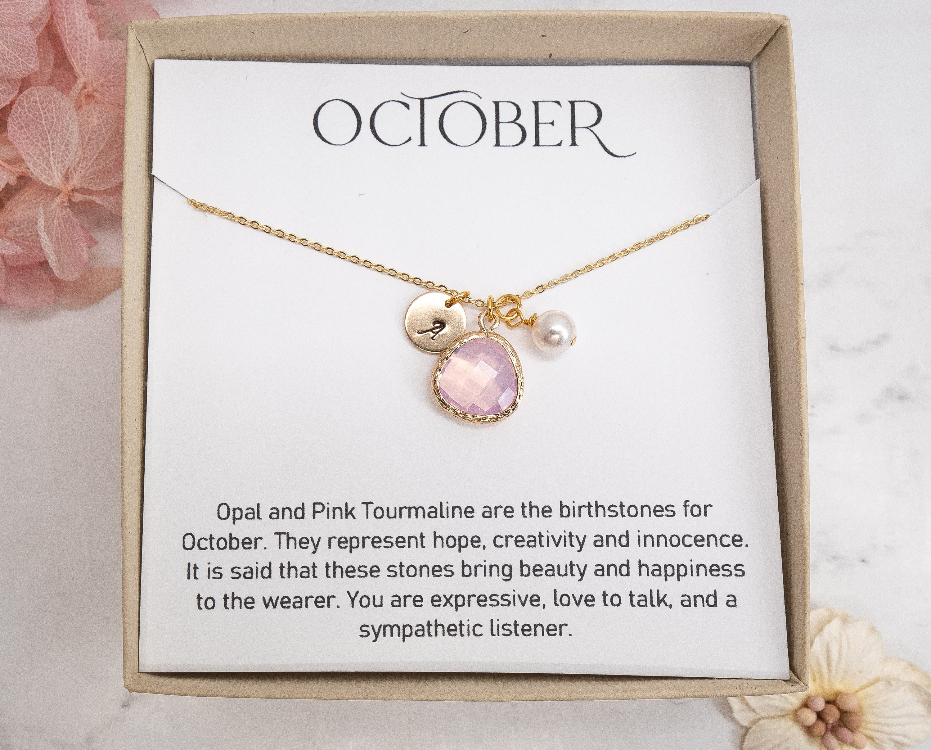 Opal Beaded Necklace Jewelry Opal Jewelry Gift For Women Gift For Mom Daughter Wife Crystal Necklace DIY 665 October Birthstone