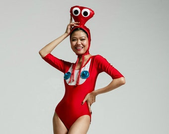 Fly Time Alien Costume - Red/Turquoise