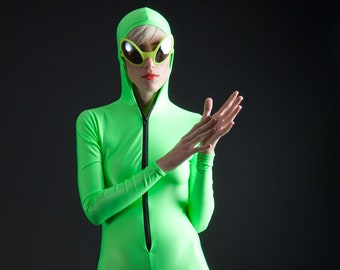 SALE Amazing Alien Neon Green Bodysuit, also great for The Incredible Hulk