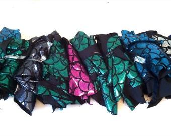 Make a Mermaid Quilt DIY factory fabric scraps