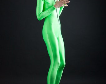 Amazing Alien Neon Green Bodysuit, also great for The Incredible Hulk