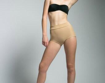 High Waisted Nudey Nude Pinup Style Bikini Bottoms
