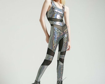 Silver Holographic Portal Suit for the Modern Superhero