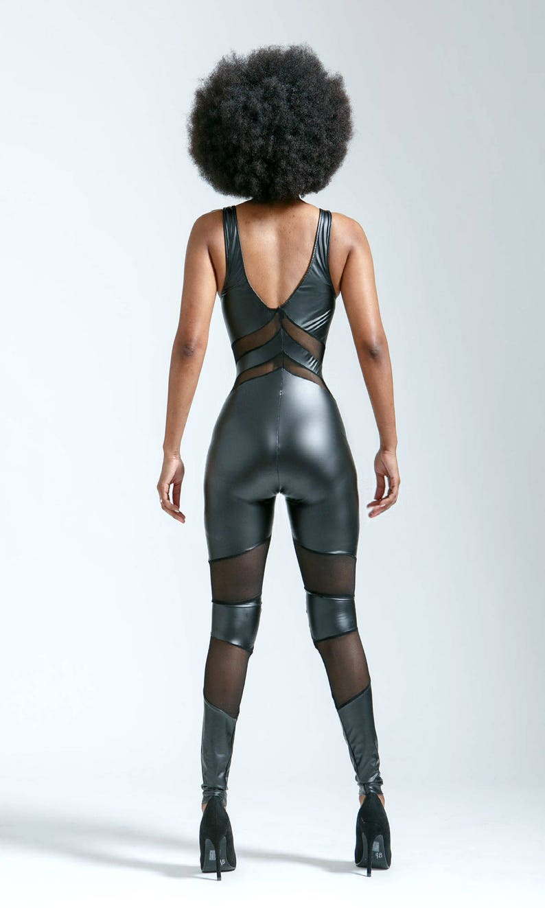 Matte Leather look Black Portal Suit for the Witchy Star Being in You