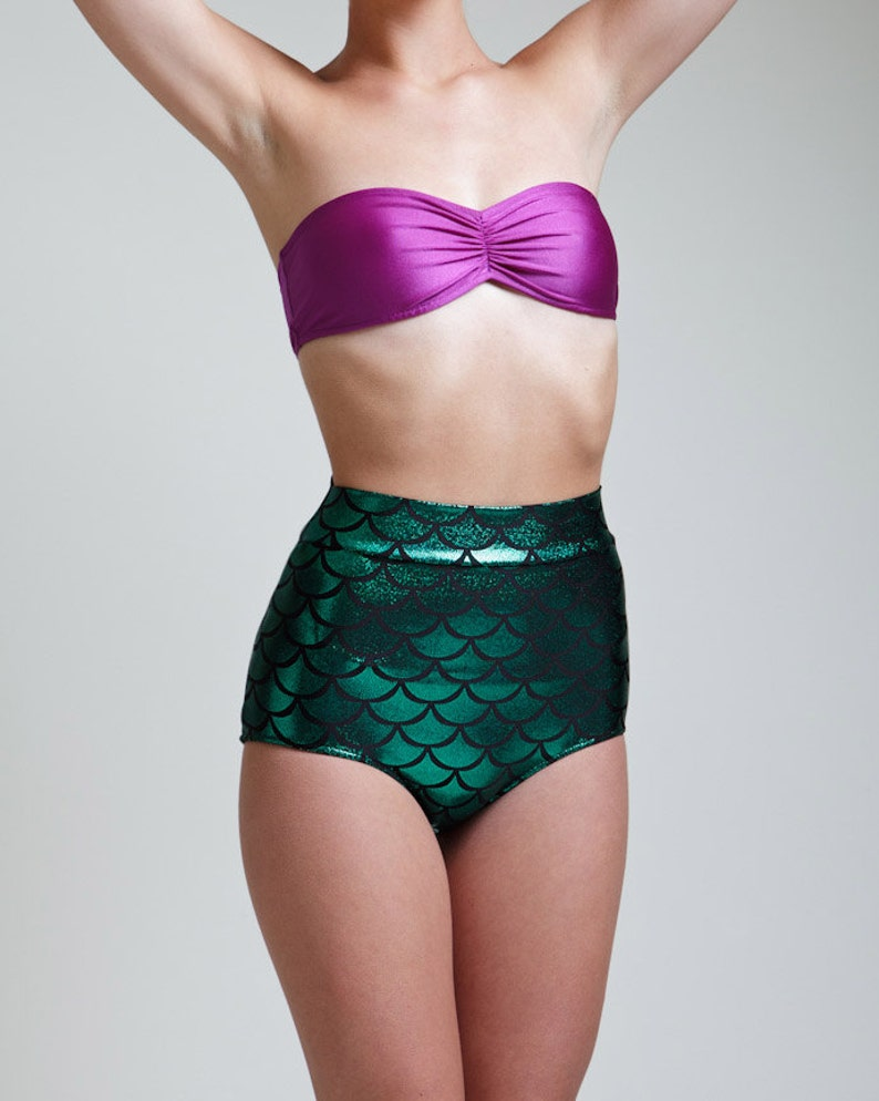 a1201630abf The Original Green High Waist Mermaid Bikini Bottom Pinup