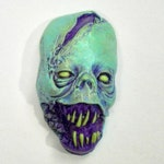 Toxic Zombie, Neon Dead, Horror Sculpture, Witch, Zombie Head Pendant