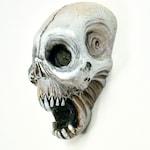 Island Voodoo, Skull, Zombie, Vanuatu skull, Horror Sculpture, Witch, Zombie Head Pendant