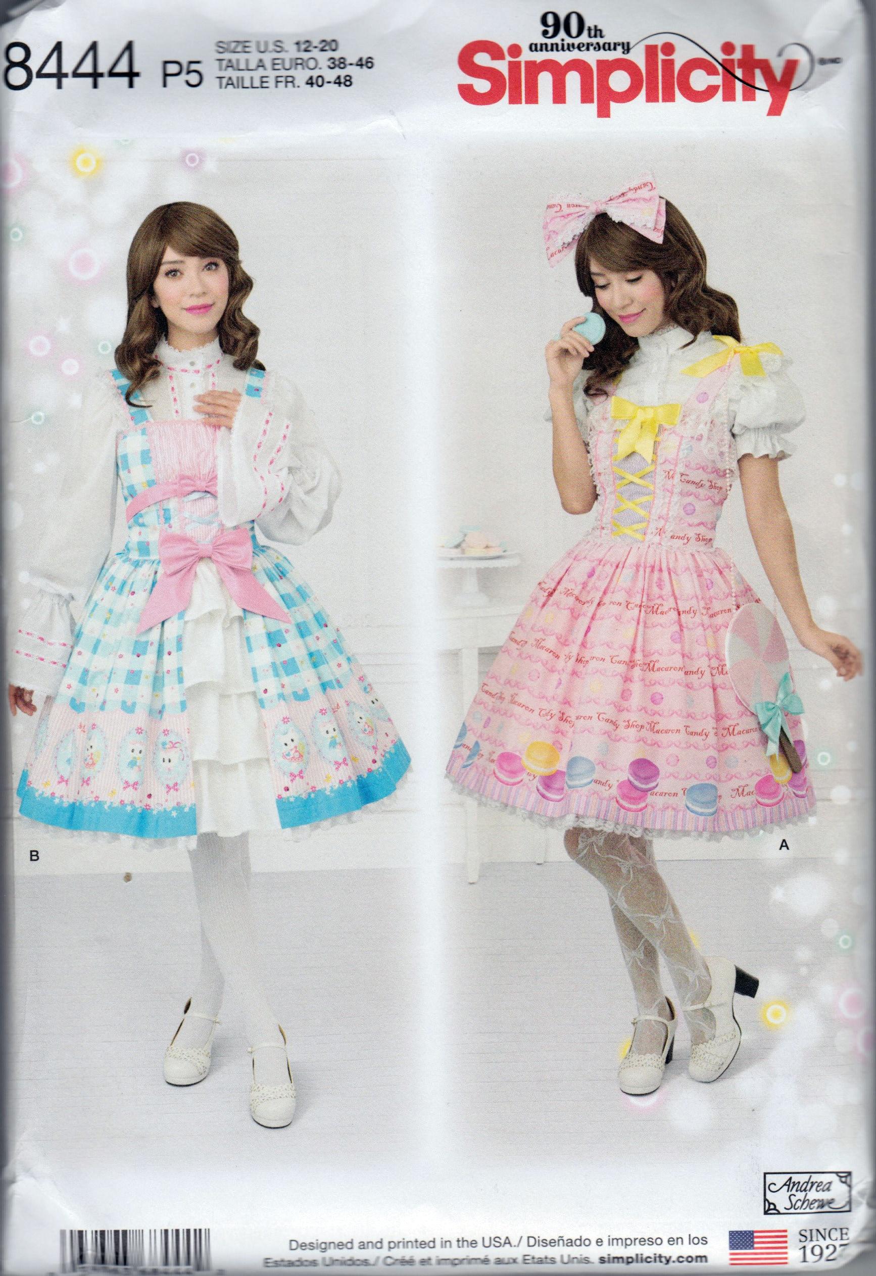Gotische Lolita Harajuku Kleid Schnittmuster Rock 2 Kleider