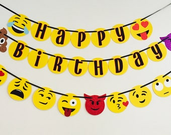 Emoji Banner Happy Birthday