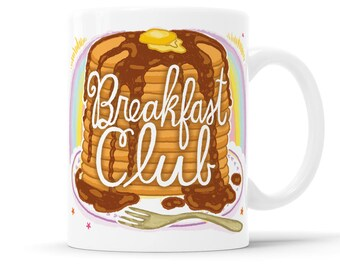 Breakfast Club Breakfast Mug Sunday Brunch Gift For Gay Couple Rainbow Mug Rainbow Coffee Mug Gay Gift Rainbow Gift Brunch Decor Kitchen Mug