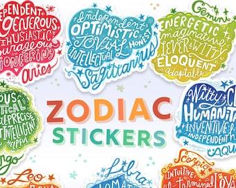 Sagittarius sign astrology zodiac sticker gift Star sign sticker Sag sticker Sun sign sticker Laptop decal Vinyl laptop sticker Fire sign