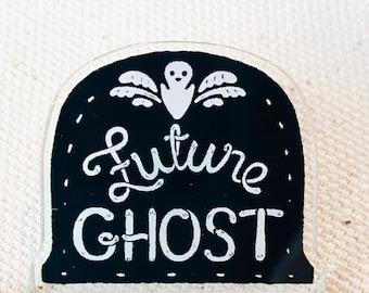 Ghost Pin  - Acrylic Pin - Future Ghost  - Spooky Pin - Halloween Pin - Spooky Pin - Nu Goth Pin - Cute Goth - Pastel Goth - Creepy Cute Pin