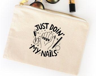 Nail Polish Cosmetic Bag - Nail Tech - Manicure Bag - Nail Accessories - Manicure Accessories - Nail Tech Gift - Manicurist Gift - Nail Bag