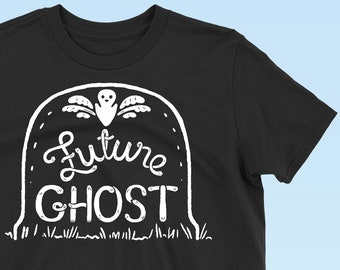 Pastel Goth, Creepy Cute Shirt, Ghost Shirt, Pastel Goth Men Shirt, Pastel Kawaii, Fairy Kei, Kawaii Clothing, Morbid Shirt, Ghost Clothing