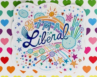 Liberal sticker, Equality sticker, Feminism, Love Is Love, Social Justice, Civil rights, Diversity, Science Is Real, Girl Power