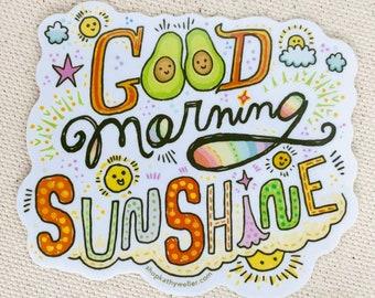 You Are My Sunshine, Good Morning Sunshine sticker, Sunshine vinyl sticker, Good morning, Morning sticker, Hello Sunshine, My Only Sunshine
