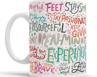 Inspirational Saying Mug Motivational Mug Positive Messages Mug Inspirational Quote Stay Positive Self Care Gift  Positive Quotes