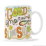 Cute Avocado Mug, Cute Avocado Gift, Morning Mug, Plant Based Gift, Good Morning Mug, Rainbow Mug, Kawaii Avocado Gift, Avocado Toast Gift